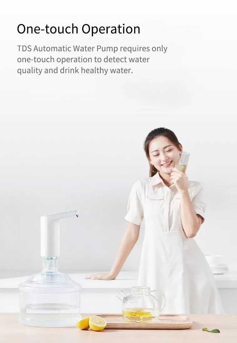 Mi XiaoLang TDS Automatic Water Pump Touch Switch Mini Wireless Rechargeable