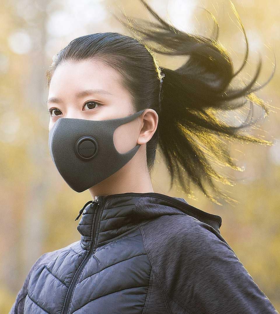 Xiaomi Mijia Smartmi Filter Mask Block 97% PM 2.5 with Ventilating Valve Long-lasting TPU Material 3 PCS Filter Mask Smart Home (7)