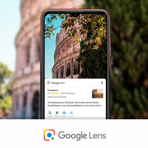 Google Lens use exemple at Colosseum in Rome