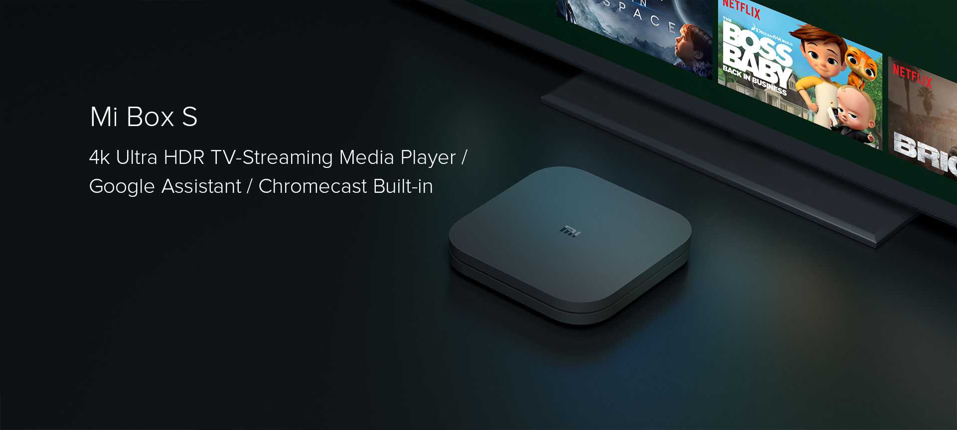 Mi Box s WIFI bluetooth TV Box Streaming Media Player Whosale