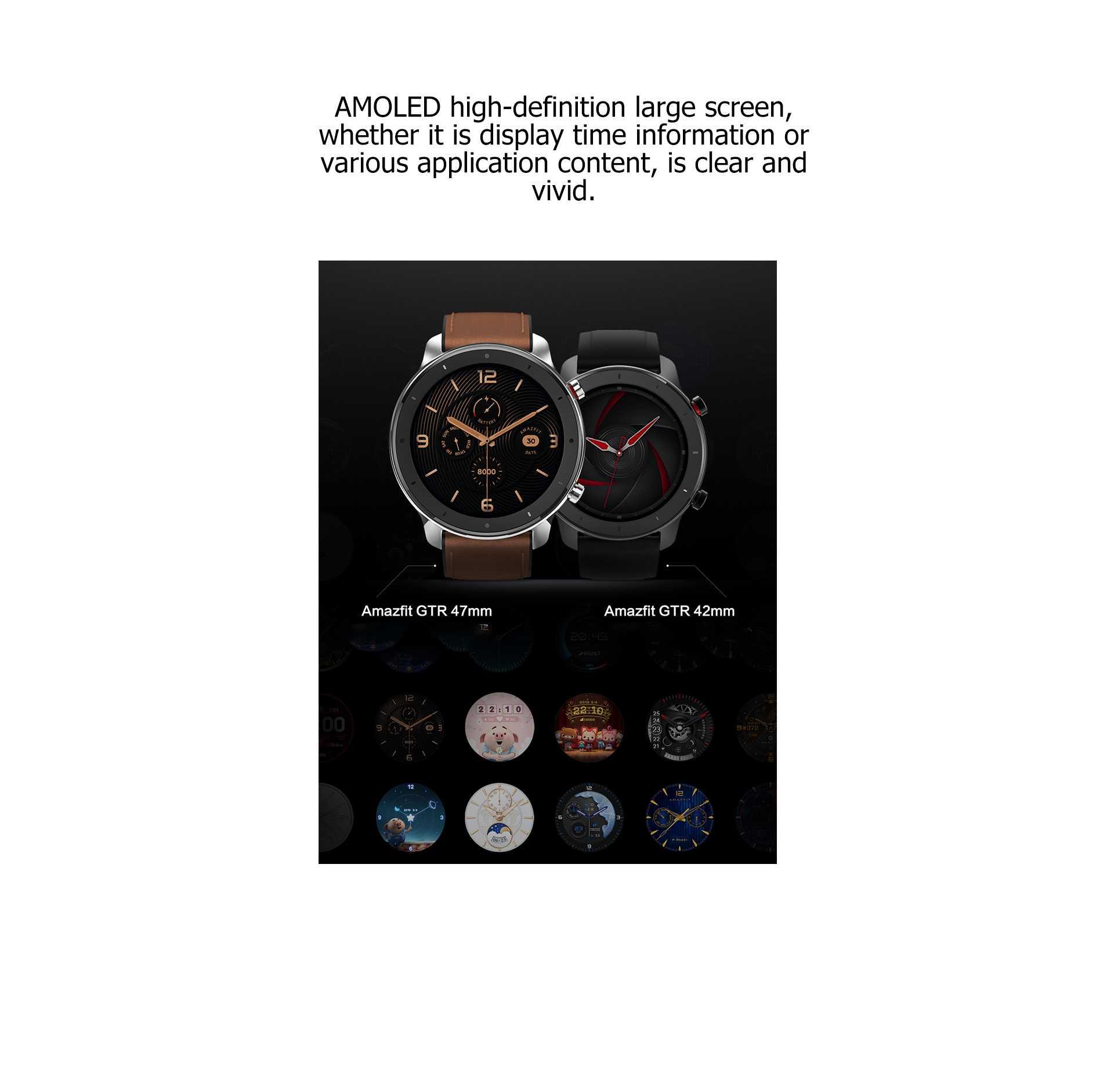 Amazfit GTR AMOLED Smart Watch GPS+GLONASS Wholesale