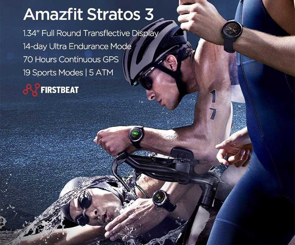 Amazfit Stratos 3 GPS Smartwatch 14-day Battery 19 Modes Sports Watch 5 ATM Waterproof Bluetooth Music Play Heart Rate (12)