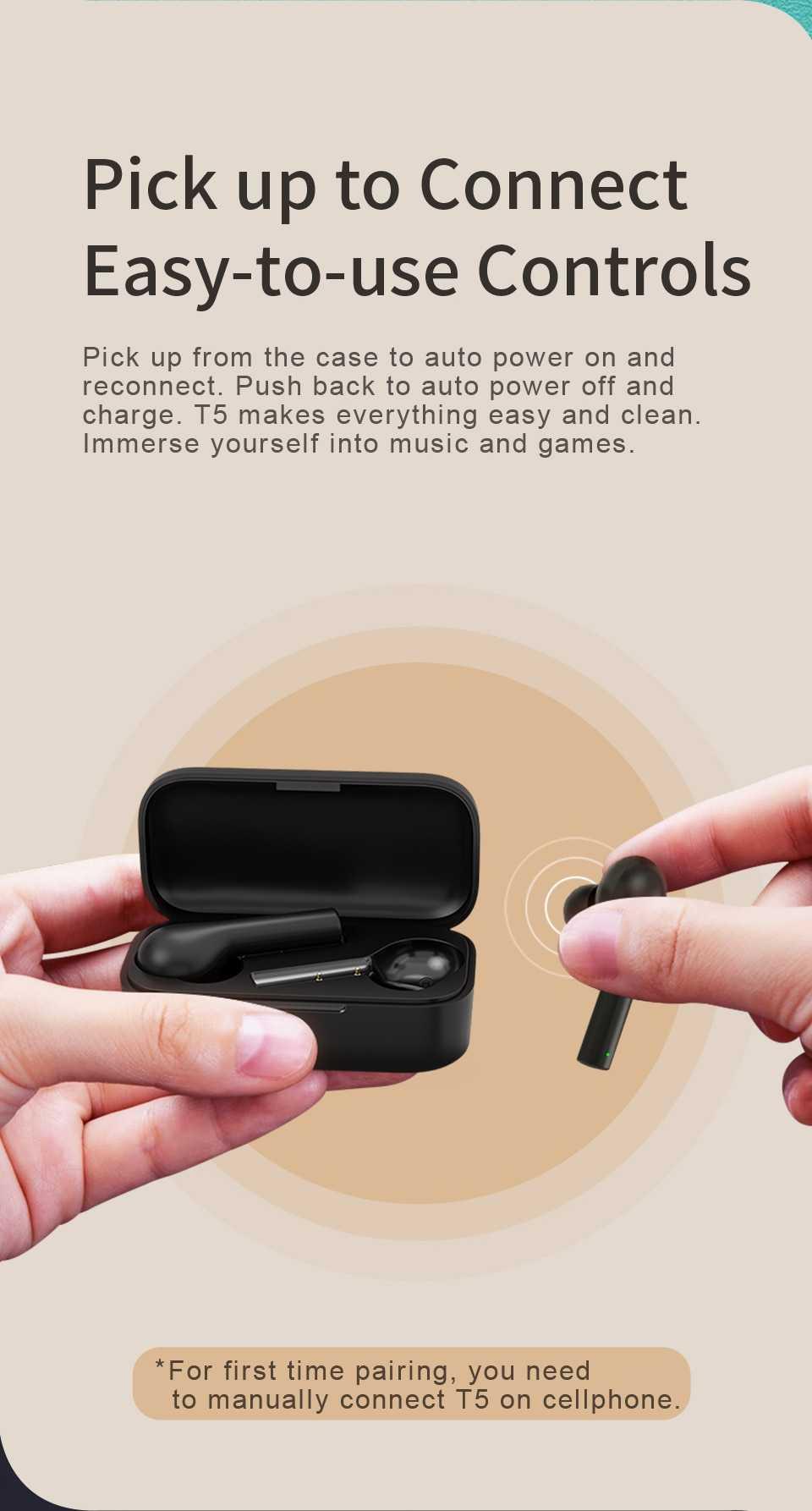 QCY T5 TWS Bluetooth 5.0 Earphones Wholesale