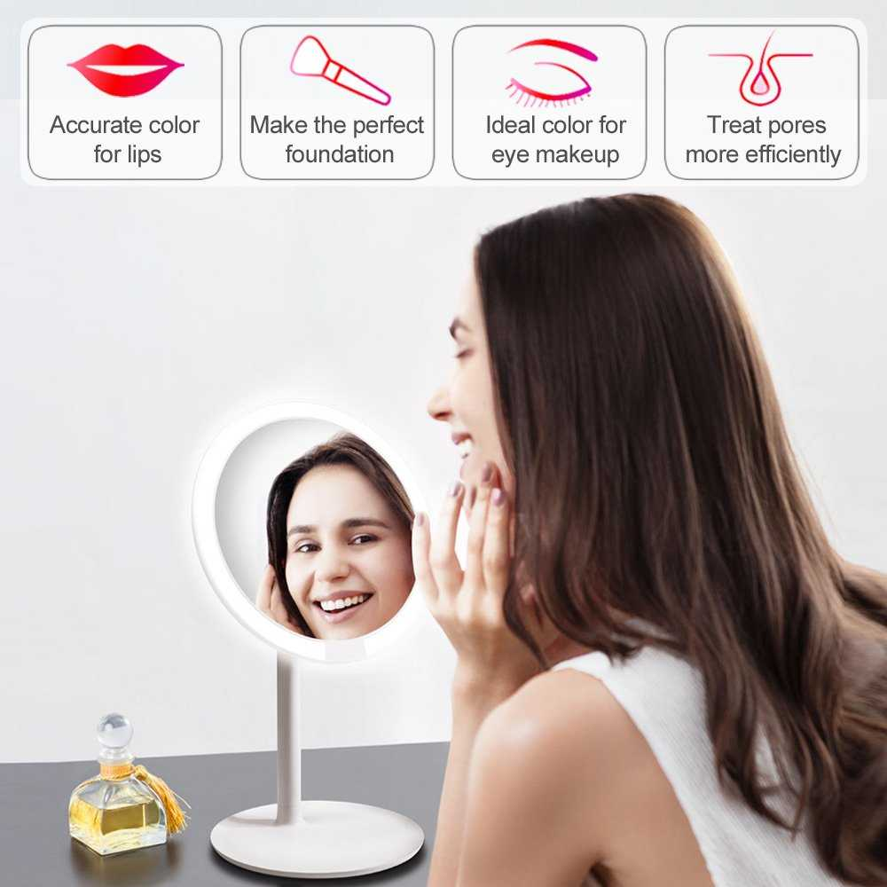 AMIRO White HD Daylight Cosmetic Mirrors