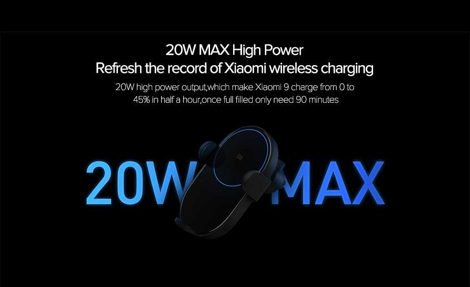 Xiaomi Mi 20W Max Qi Wireless Car Charger Wholesale