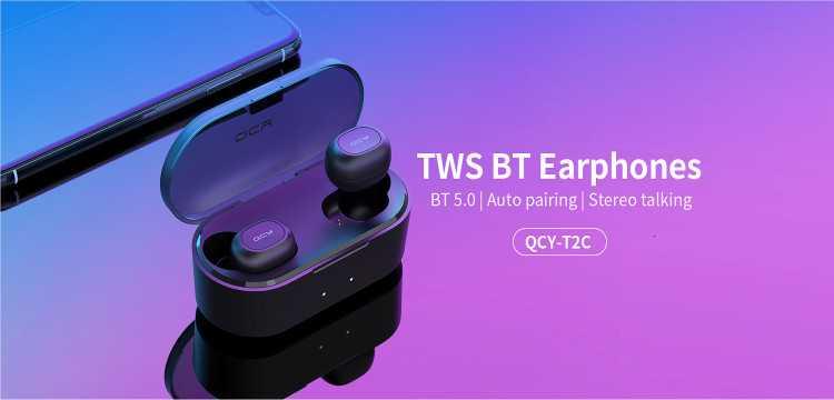 QCY T2C TWS Bluetooth 5.0 Earphones Wholesale
