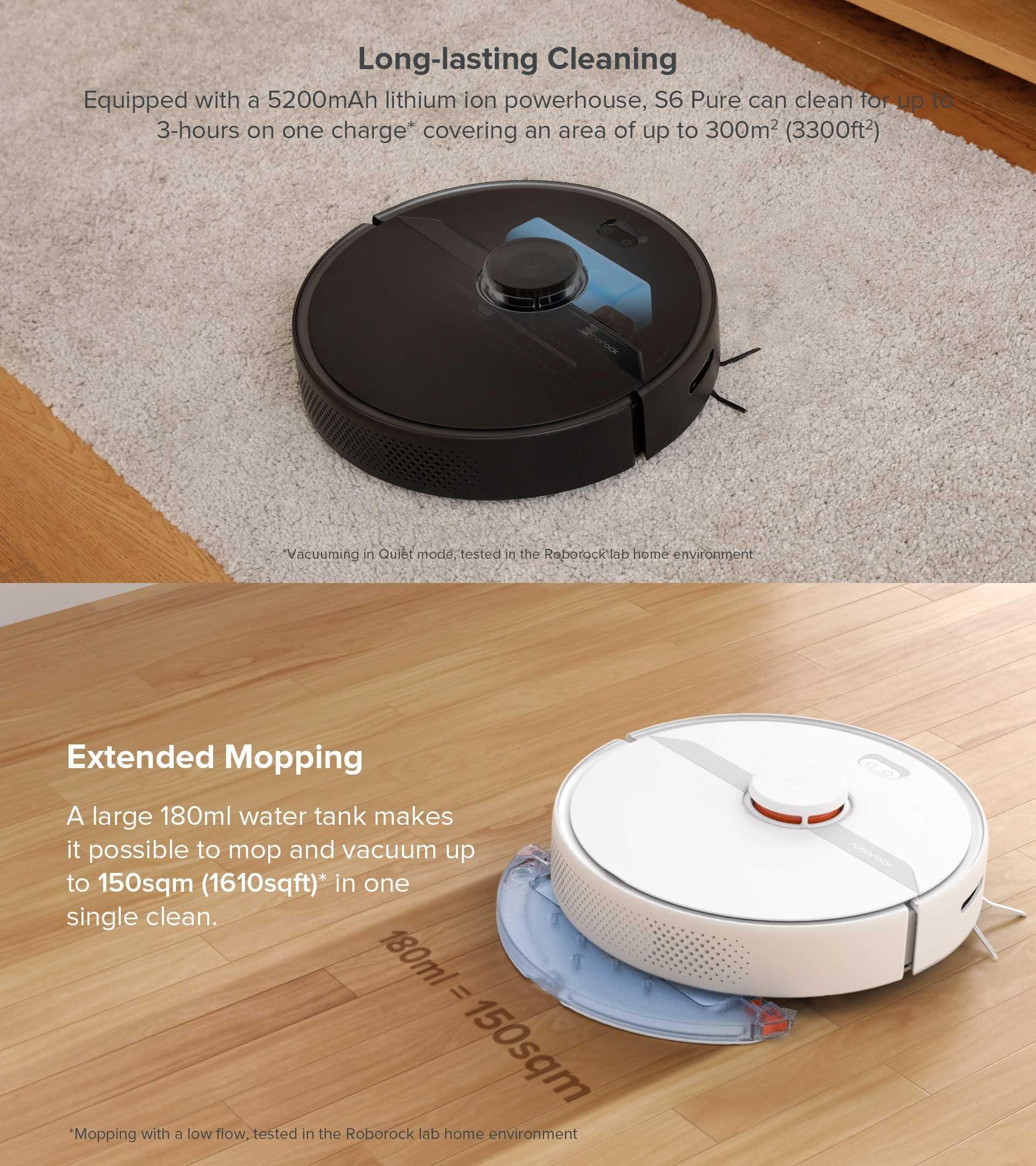 XiaoMi Youpin Roborock S6 Pure Robot Vacuum Cleaner Wholesale