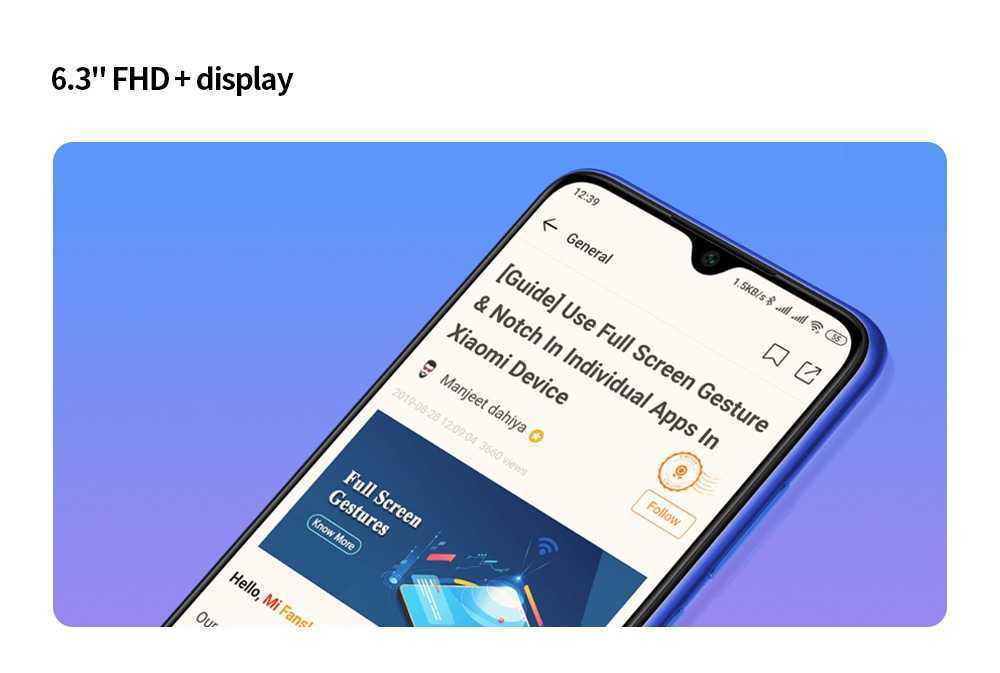 Xiaomi Redmi Note 8T 4G Phablet 4GB RAM 64GB ROM- Blue