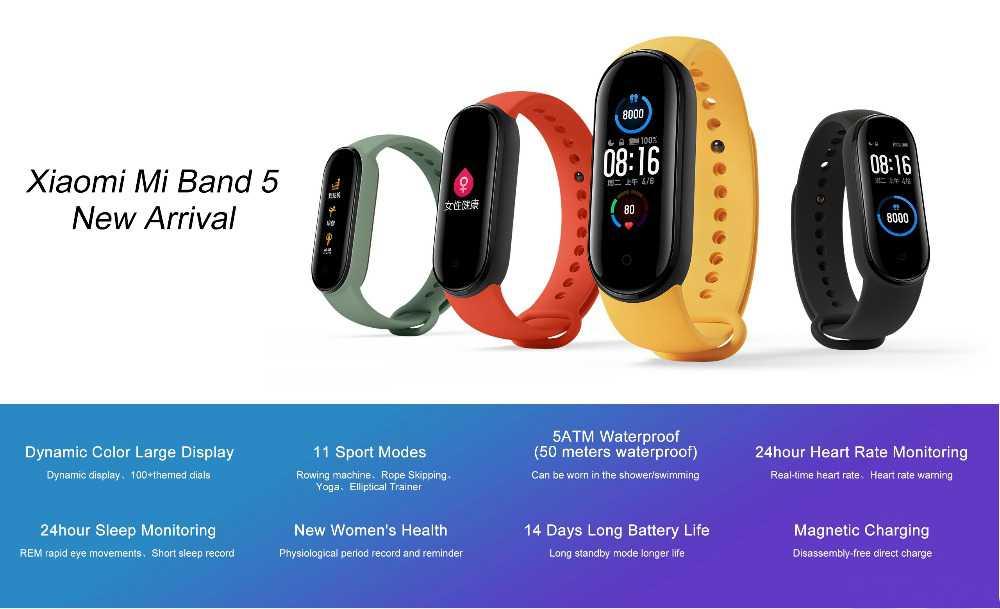 Xiaomi Mi Band 5 Smart Band Wholesale