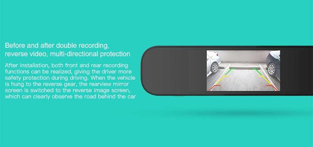 Xiaomi 70mai Car Backup Camera 720P Night Vision IPX7 Waterproof Vehicle Reversing Rear Camera- Black