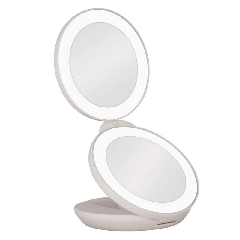 Zadro 1X/10X LED Lighted Travel Mirror