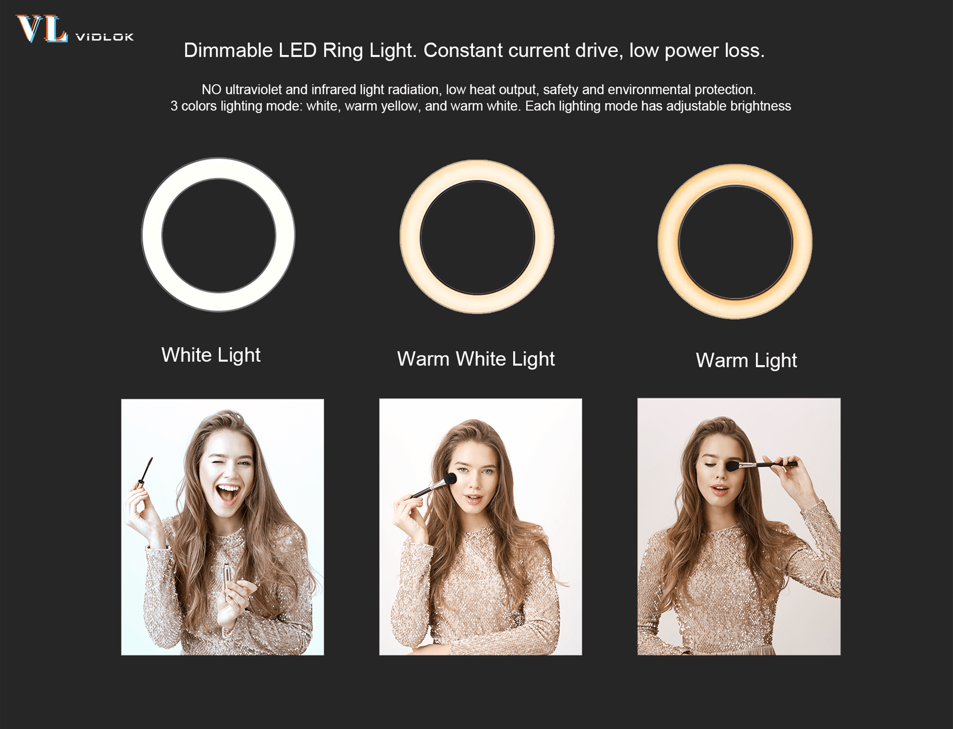"Vidlok Selfie Ring Light 12"" & 18"""