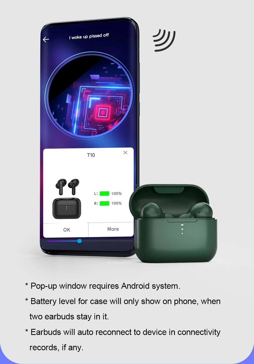 QCY T10 Wireless Earphone Full Range Driver