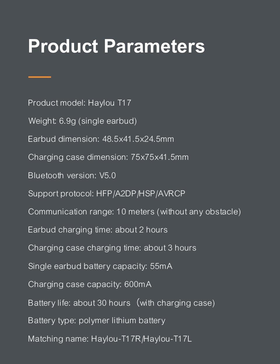 Haylou T17 TWS Wireless Bluetooth Earphones Global
